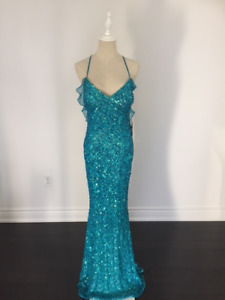 SCALA SEQUIN LONG GOWN