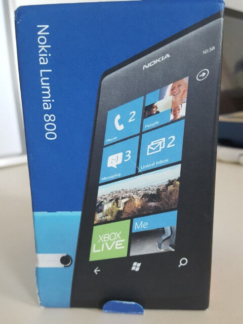 """Nokia Lumia 800 Windows Smartphone Boxedin Wellington, ShropshireGumtree - Nokia Lumia 800 smartphone running Windows software. Phone is unlocked and in excellent condition. Always had a screen protector on it Complete with original box Unlocked and ready for any network. For more information search """"nokia 800"""""""