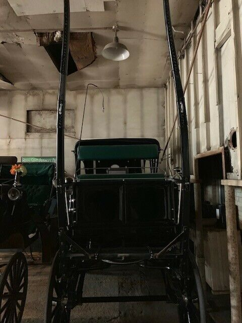 Horse Drawn Carriage Black Excellent Condition