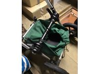 Bugaboo cameleon, green seat and canopy, with accessories and MacLaren (bonus)