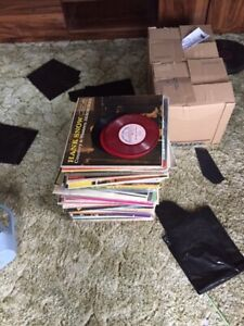 Old records and turn table