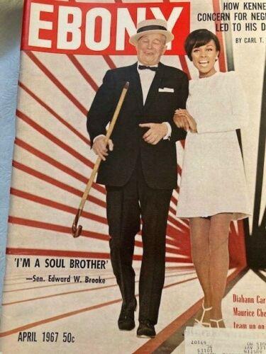 Vintage Ebony Magazine Apr 1967 Diahann Carroll & Maurice Chevalier