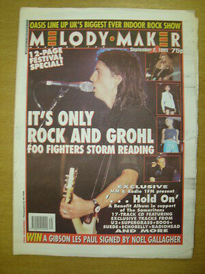 MELODY MAKER 1995 SEP 2 FOO FIGHTERS OASIS BLUR SUEDE