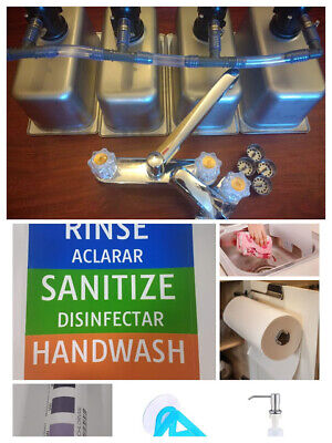 3 Compartment Sink Portable Sink Concession Sink Hand Wash Wdrain Kit Extras