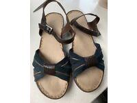 LADIES Navy sandals NEW