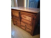 Walnut TV Unit/Cabinet - very heavy and solid piece of furniture