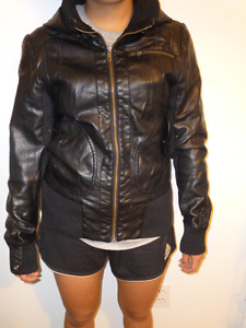 Veston faux cuir-Faux leather jacket CHATEAUG./ LONG.