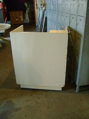 Kiosk Small Retail Register Counter Cream Tan W Drawers 48 X 36 X 44