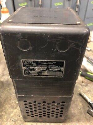 Sola 20-23-150 Constant Voltage Transformer 500va 118v Secondary