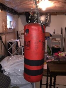 Boxing Bag, Gloves and Wrap