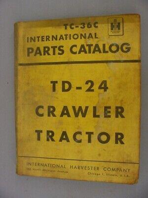 International Td-24 Crawler Tractor Parts Catalog Manual