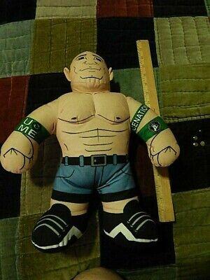 John Cena (2012, Mattel) Brawlin' Buddies Plush Wrestler w/ Sound ~ WWE Promo