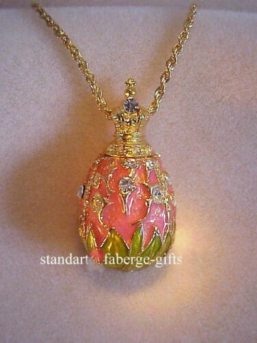 Empress Marie Russian Imperial  Lily of Valley Egg Necklace