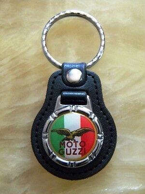 Brand New Moto Guzzi Key Chain Red with Gold Detail