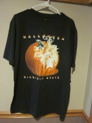 ate HALLOWEEN MICHIGAN STATE SIZE L NWT VINTAGE (Halloween Michigan)