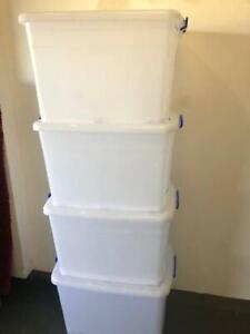 Large Plastic storage boxes with wheels and lids
