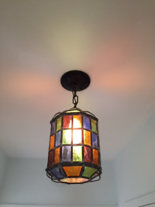 Stained Glass Vintage Hall Light
