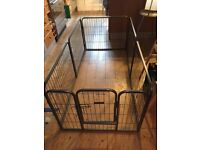 Modular Ellie-Bo Heavy duty Puppy Play Pen for indoors or outdoor use for medium or small dogs