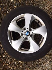 BMW ALLOYS AND TYRES SET OF 4 FOR £85
