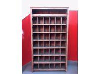 Vintage solid wood wine storage rack