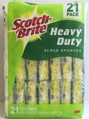 Scotch-Brite Heavy Duty Scrub Sponges 21 Pack