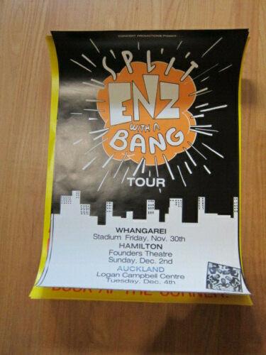SPLIT ENZ With a Bang Tour concert poster