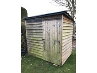 Garden Shed - treated featheredge 7 x 5 ft used