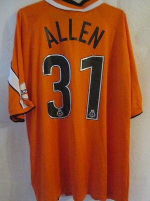 Bradley Allen Bristol Rovers Match Worn 2002-2003 Football Shirt COA /12334 image