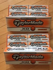 Taylormade XD distance golf balls - orange