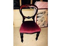 Three spoon back chairs. Not antique. In good condition