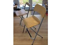 Foldable bar stools