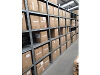 JOB LOT 100 bays of supershelf industrial shelving 2.5m high AS NEW ( storage , pallet racking )