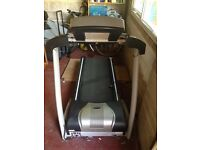 Electric treadmill, robust build with new running belt