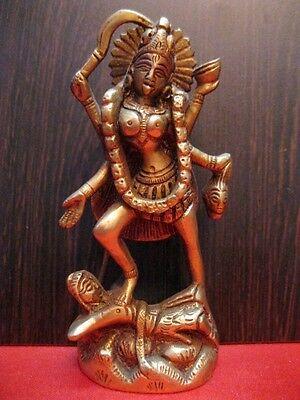 Kali Brass Statue Shiva Alter Meditation Durga Kaali Maa Hindu Goddess~k109 for sale  Shipping to United States
