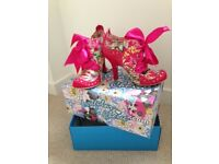 Irregular Choice bootie, Abigail's Party in Pink Tropical Floral.