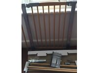 Baby Dan Avantgarde Pressure Saftey Baby Gate and extensions, in beech and metal