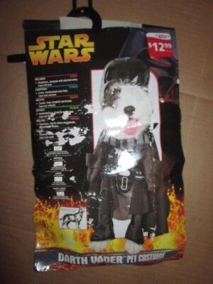 Dog STAR WARS DARTH VADER Halloween Costume sz S Sm 10-12 lbs](Dog Vader Costume)