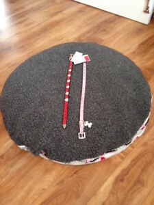 New Pet Bed Double Sided for Dog or Cat plus 2 new collars