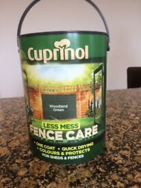 Cuprinol - 5 Litres of Woodland Green Fencing Paint - BRAND NEW.