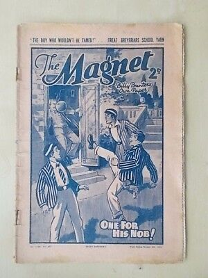 THE MAGNET - BILLY BUNTER'S OWN PAPER - VINTAGE BOYS COMIC - OCTOBER 8th 1938