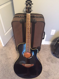 Yamaha Electric/Acoustic Guitar with Hard Case