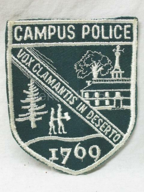 Dartmouth College Campus Police Patch Old Estate Vtg