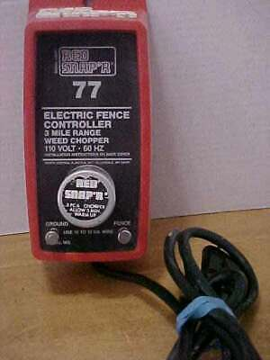 Red Snapr 77 - 3 Mile Electric Fence Controller 110v 60hz Free Shipping