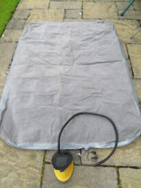 """Blow Up Bed in good condition with working Foot Pump, 6ft x 4ft 4""""."""
