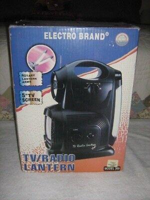 "NIB Vintage Electro Brand 5"" B/W TV/Radio/Lantern/Siren Model 369 Forest Green"