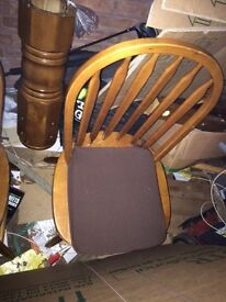 4 spindle chairs in good used condition £30