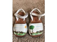 Handpainted Girl's Shoes