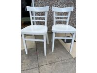 Painted Wooden Kitchen Chairs - Free