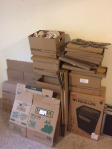 40+ solid moving & bankers boxes