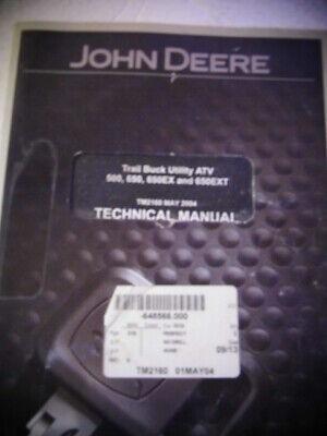 John Deere Trail Buck Atv 500 650 650ex 650ext Technical Manual Tm2160 Diagrams